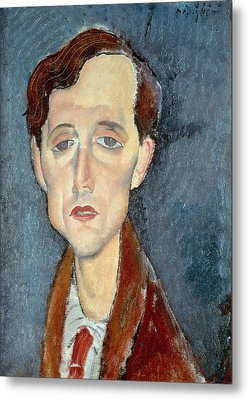 Portrait Of Franz Hellens Metal Print by Modigliani
