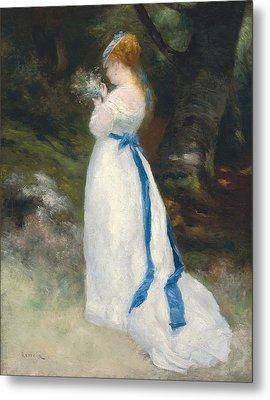 Portrait Of Lise   Metal Print by Pierre Auguste Renoir