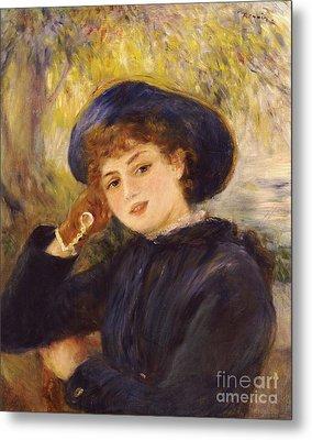 Portrait Of Mademoiselle Demarsy Metal Print by Pierre Auguste Renoir