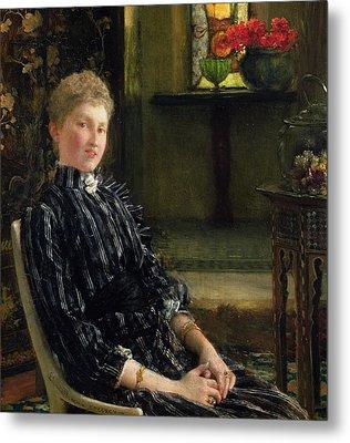 Portrait Of Mrs Ralph Sneyd Metal Print by Sir Lawrence Alma-Tadema