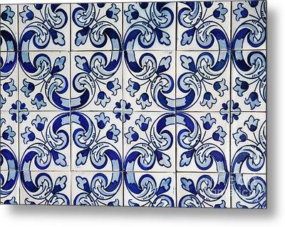 Portuguese Azulejo Metal Print by Gaspar Avila