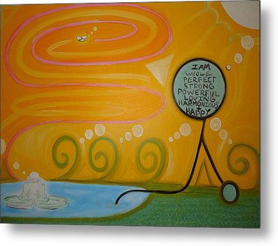 Positive Pondering Metal Print by Cory Green