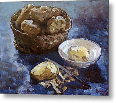 Potatoes Metal Print by Ylli Haruni