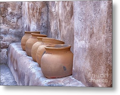 Pottery Of The Past Metal Print by Sandra Bronstein