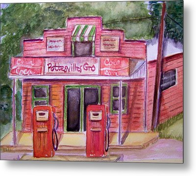 Pottesville Gro. Metal Print by Belinda Lawson