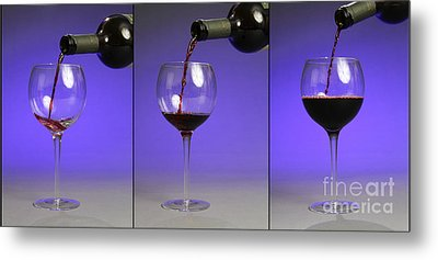 Pouring Wine Metal Print by Photo Researchers, Inc.