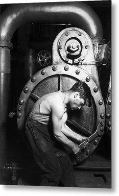 Powerhouse Mechanic Metal Print by Lewis Wickes Hine
