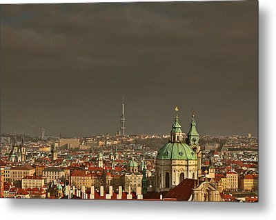 Prague - A Symphony In Stone Metal Print by Christine Till