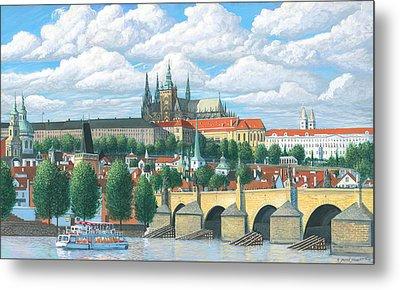 Prague And The St. Charles Bridge Metal Print by Patrick Funke