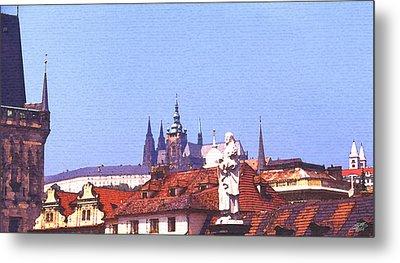 Prague Castle Metal Print by Steve Huang