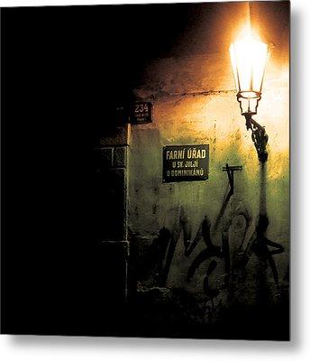 Prague Street Light Metal Print by Chris Giles