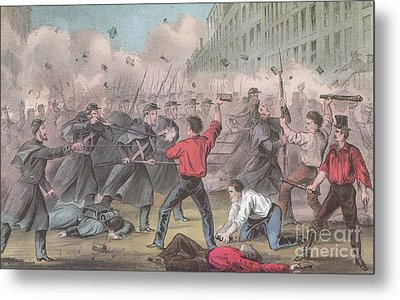 Pratt Street Riot, 1861 Metal Print by Photo Researchers
