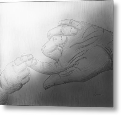 Precious Touch Metal Print by Kume Bryant