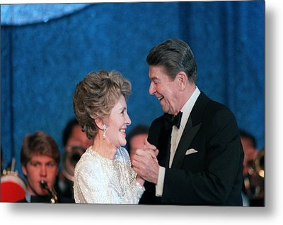 President And Mrs. Reagan Dance Metal Print by Everett