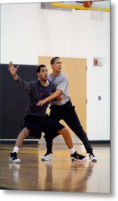 President Barack Obama Guards Metal Print by Everett