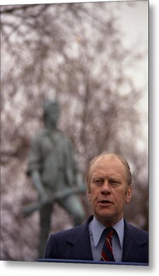President Ford Speaks On The 200th Metal Print by Everett