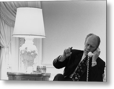 President Gerald Ford In The Second Metal Print by Everett