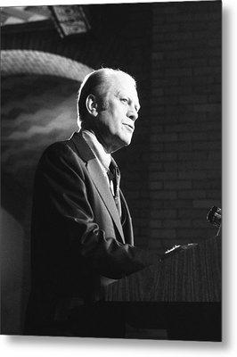 President Gerald Ford Speaking Metal Print by Everett
