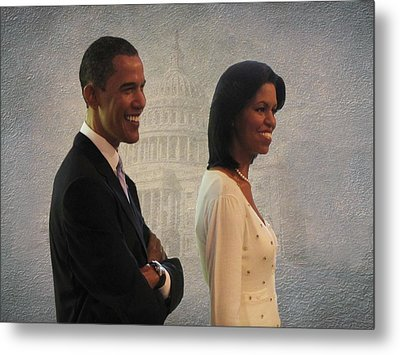 President Obama And First Lady Metal Print by David Dehner