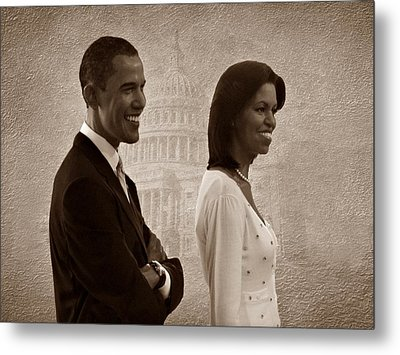 President Obama And First Lady S Metal Print by David Dehner
