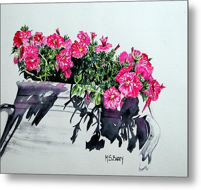 Pretty In Pink Metal Print by Maria Barry