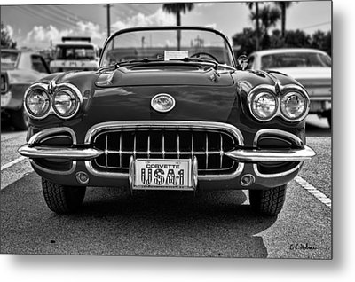 Pretty In Red - Bw Metal Print by Christopher Holmes