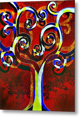 Primary Metal Print by Angelina Vick