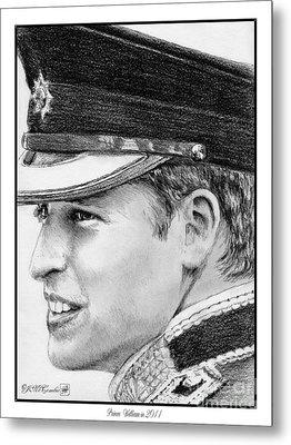 Prince William In 2011 Metal Print by J McCombie