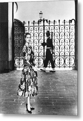 Princess Grace Kelly, 1956 Metal Print by Everett