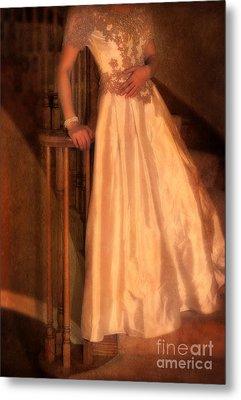 Princess On Stairway Metal Print by Jill Battaglia