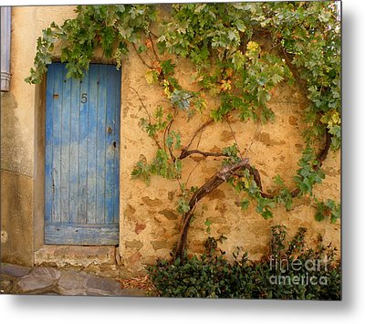 Provence Door 5 Metal Print by Lainie Wrightson