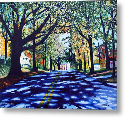 Providence Road Metal Print by Jerry Kirk