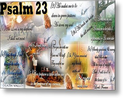 Psalm 23 Metal Print by Barbara Judkins-Stevens