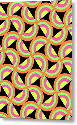 Psychedelic Squares Metal Print by Louisa Knight