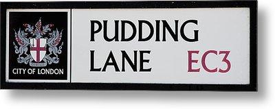 Pudding Lane Metal Print by Dawn OConnor