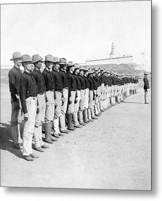 Puerto Ricans Serving In The American Colonial Army - C 1899 Metal Print by International  Images