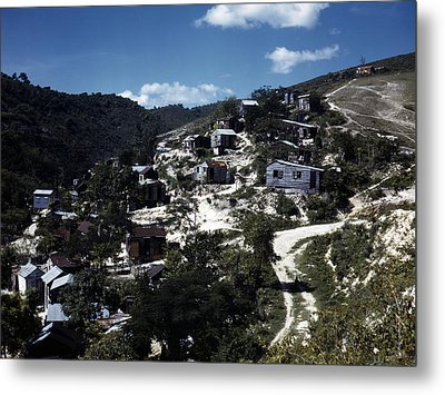 Puerto Rico. A Town In Puerto Rico Metal Print by Everett