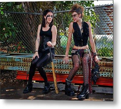 Punk Women Metal Print by Jim Boardman