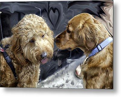 Puppy Love Metal Print by Madeline Ellis