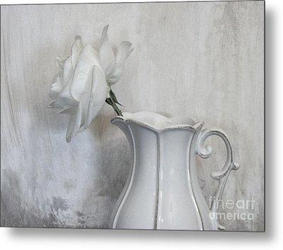 Pure White Metal Print by Marsha Heiken