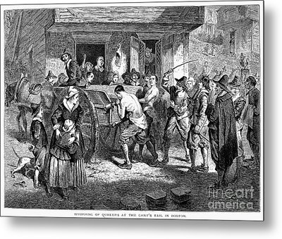 Puritans And Quakers, 1677 Metal Print by Granger