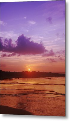 Purple And Orange Sunset Metal Print by Vince Cavataio - Printscapes