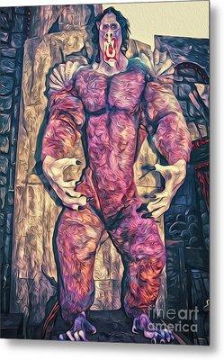 Purple Carnival Monster Metal Print by Gregory Dyer