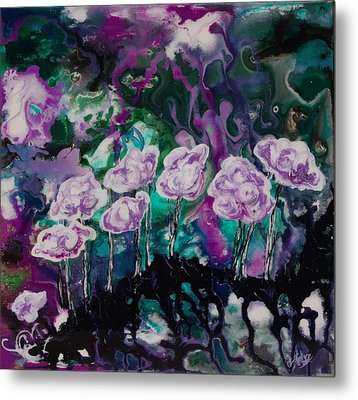 Purple Lava Floral Metal Print by Shelly Leitheiser