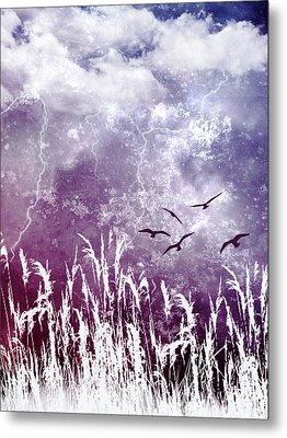 Purple Skies Metal Print by Ellen Heaverlo