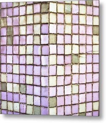 Purple Tiles Metal Print by Tom Gowanlock