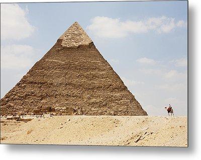 Pyramid Of Khafre Chephren, Giza, Al Metal Print by Peter Langer