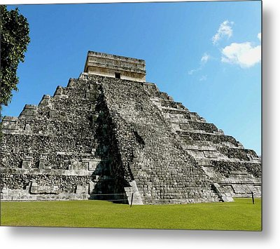 Pyramid Of Kukulcan Metal Print by Cute Kitten Images