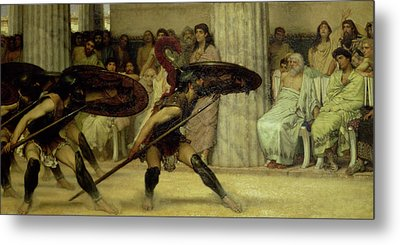 Pyrrhic Dance Metal Print by Sir Lawrence Alma-Tadema