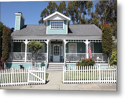 Quaint House Architecture - Benicia California - 5d18817 Metal Print by Wingsdomain Art and Photography